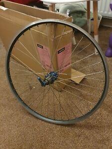 Retro Hope pro rear wheel 26 Mavic 217 rim Mtb 90's blue shimano freehub qr axle