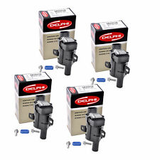 Set of 4 Delphi Ignition Coil GN10119 For Chevrolet GMC Cadillac 1999-2007