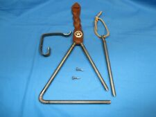 Dinner Bell Triangle Handmade with Leather Hanger Strap and Clanger