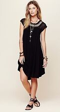 NWT Free People Sundance Dress Black S M Crochet Gauze Sun Beach