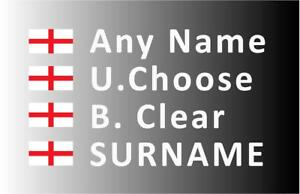 """""""SMALL"""" Rally Decals, Name Stickers St George Flag 20mm Tall (F2)"""