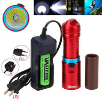 Dive 100m 10000Lm XM-L T6  LED Scuba Diving Flashlight Aluminum Torch 26650 lamp