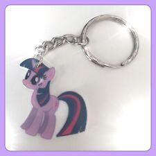 My Little Pony Twilight Sparkle Theme Handmade Keyring Bag Charm Gift Xmas #17