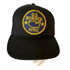 US Border Patrol Snapback Cap Hat Black Mesh One Baseball Trucker Adjustable