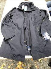 NWT NAUTICA RAIN GEAR Navy Blue Sailing COAT Size S Stretch Performance Jacket