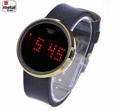Hip Hop Touch Screen Digital Watches Techno Pave LED Leather Band WL 8245 G
