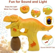 Dinosaur Bubble Toy For Kids LED Dinosaur With 1 Bubbles Solution NEW orange