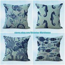 US SELLER, 4pcs patio furniture cushions cover cushion covers nautical seashorse