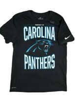 The Nike Tee Carolina Panthers Mens DriFit black Polyester cotton shirt Large