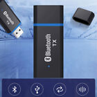 Bluetooth Transmitter 5.0 Audio Adapter For TV PC Headphones 3.5 MM Jack AUX O❤