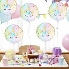 5x 18'' Unicorn Theme Foil Balloon Kids Birthday Party Supplies Decor Modern