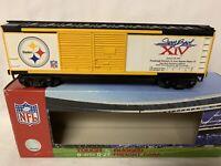 ✅MTH RAILKING PITTSBURGH STEELERS SUPER BOWL XLIII BOXCAR 30-74559 NFL FOOTBALL
