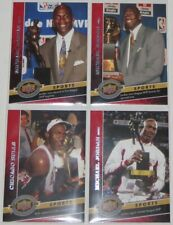 2009 Michael Jordan Bulls Upper Deck 20th Anniversary Retrospective 4-Card Lot