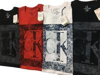 CALVIN KLEIN mens crew neck short sleeve polo tshirt. 100% cotton.