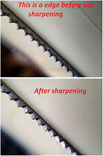 Resharpening of YOUR Champion Cutter blade,creates a very sharp blade,  200 sold