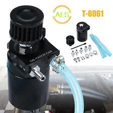 Decantador de aceite Oil catch can Recuperador de aceite de T6061 aluminio NEGRO