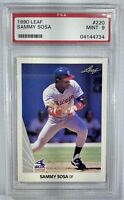 1990 Leaf Sammy Sosa Rookie Card PSA Graded 9 MINT #220 Baseball Card