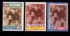 1988-1990 Swell BRONKO NAGURSKI Chicago Bears Hall of Fame 3 Card Lot
