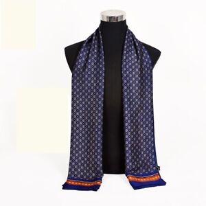 Silk Scarf Men Autumn Winter Neck Wrap Business Fashion Long Scarves Necks Warm
