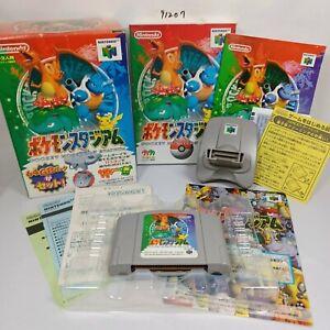 NINTENDO 64 N64 Pokemon Stadium 1 Complete Set GB Pack Transfer Pak Japan Import