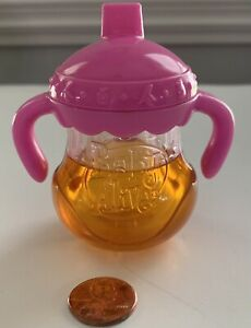 BABY ALIVE Doll Sippy Cup ~ Disappearing Juice ~ Pink Replacement Part ~ GUC!