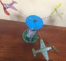 Vintage Schylling Tin Toy Aerodrome Windup + Planes