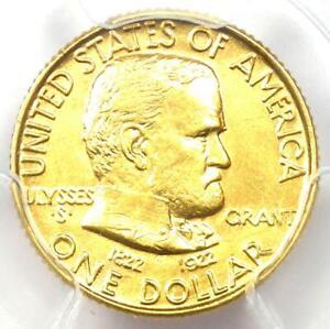1922 Grant Gold Dollar G$1 - Certified PCGS MS62 UNC - Rare Commemorative Coin!