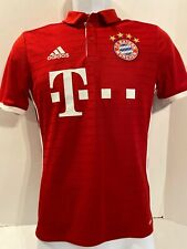 ADIDAS FC BAYERN MUNCHEN T-MOBILE Soccer JERSEY Red Football Shirt YOUTH LG 16