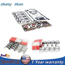 Engine Piston Ring&Cylinder Gasket&Bearing Shell Repair Kit Fit For Audi VW 1.8T