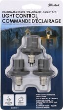 Westek Outdoor Candelabra Base Light Control, 3 Pack - New