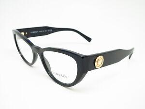 New Authentic Versace VE 3280-B GB1 Black Eyeglasses 51mm Rx-able 3280B