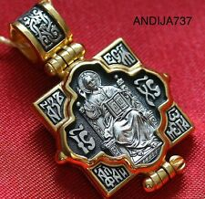 Big Locket, Christian Jewelry. Russian Orthodox Pendant Silver 925 Lord Almighty