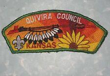 "Quivira Council  Patch - Kansas - Boy Scouts - old style - 4 3/4"" x 1 3/4"""