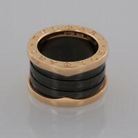 Bvlgari B.Zero1 18ct Rose Gold and Black Ceramic Four Band Ring Box