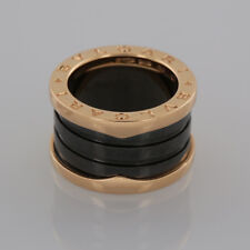 Bvlgari B.Zero1 18ct Rose Gold and Black Ceramic Four Band Ring Box + Cert