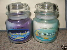 Yankee Candle UNDER THE SEA & MOONLIT SANDS Swirl 13 oz Medium Jar SET Beach