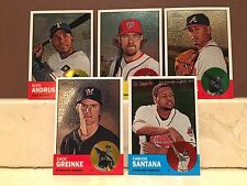 2012 Topps Heritage 5 Card Chrome Lot #d/1963 Greinke Santana