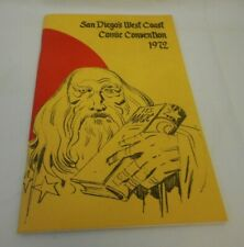 1972 San Diego Comic Con Program SDCC Jack Kirby Cover Milton Caniff Will Eisner