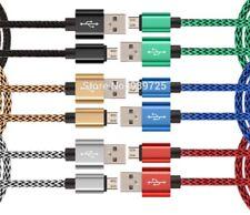 CABLE DATOS CARGADOR MICRO USB ALUMINIO NYLON PARA TODOS LOS MÓVILES,TABLET.1M