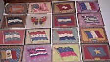 Vintage Tobacco Cigar Cloth Liners Felts-World County Flags-