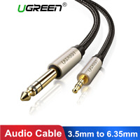 Ugreen Câble Audio Stéréo 3,5mm Mâle vers 6,35mm Mâle pour Amplificateur tablett