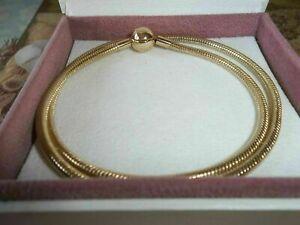 Genuine Authentic 14ct Gold Moments Pandora Necklace 550742 - 45cm G585 ALE