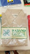 Haband Button Front Long Sleeve Shirt Vintage Men's 15.5 x 32-33 NWT Medium