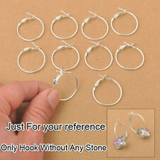 100PCS 25MM Making Jewelry Findings Basketball Wives Beads Circle Hoops Earrings