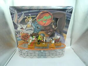 McDonald's Space Jam Michael Jordan Happy meal Toy display with 7 toys