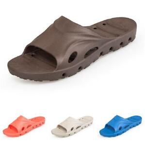 Men Flats Slippers Shoes Rubber Home Indoor Bathroom Soft Comfy Open Toe 38-48 B