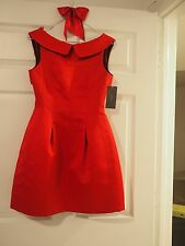 ZARA WOMAN RED DRESS ,SATIN TULIP DRESS... S, NWT FREE SHIPPING!