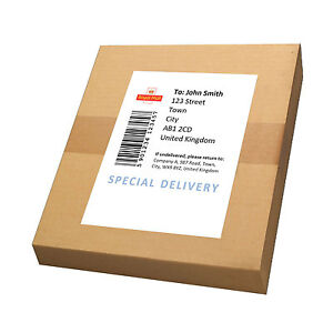 A4 White MATT Self-Stick / Sticky Back Printing Paper Mailing Label Sheets