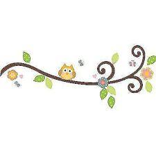 RoomMates Wandtattoo 65 Wandsticker Baum Eule Igel Eichhörnchen Blumen