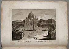 1818c.Inc/Rame.BASILICA SAN PIETRO (COLONNATO BERNINI) par NIBBY - Parboni-Ruga.